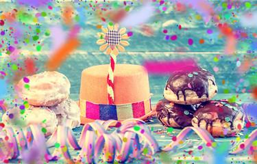 Partyhut Pfannkuchen