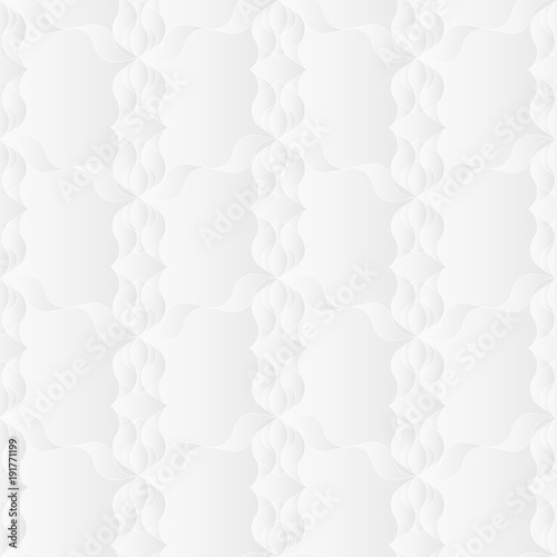 Neutral White Floral Art Deco Texture Decorative Background With 3d