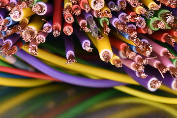Colored electrical cables in computer systems