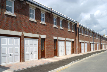 Terraced housing property development nearing completion