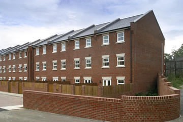 New terraced housing property development