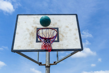 Basketball Flight Hoop Net Court Outdoor