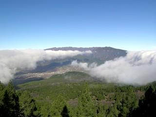 Wolkenfall am Pico Birigoyo