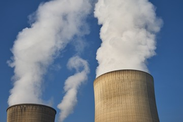 Smoking towers, coal fired power plant