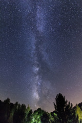 The Milky Way. Sky with a set of stars that form the Milky Way galaxy