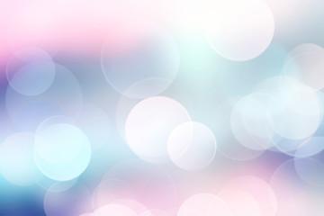 Blue blurred defocused bokeh background.