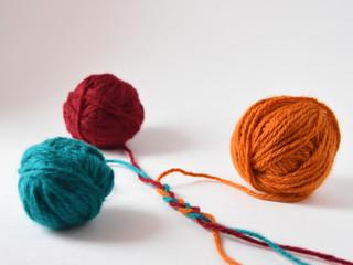 yarn on white background
