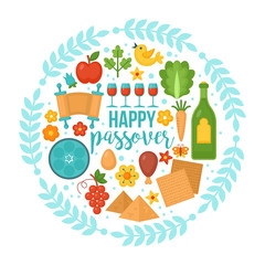 Passover greeting card design