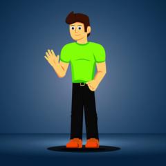 Cartoon Character Man