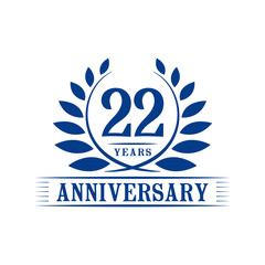 22 years anniversary logo template.