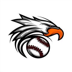 Eagle Baseball Ball Logo