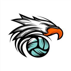 Eagle Volley Ball Logo