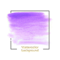 Abstract purple watercolor splash with square frame, Abstract of fluid ink, acrylic dry brush strokes, stains, spots. Background for your modern design, cover, template, decorated, flyer, banner.