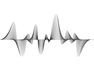 vector design illustration of dynamic sound wave, radio frequency modulation, random sound wave, amplitude wave