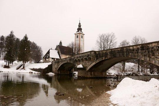 Church of St John - Ribcev Laz - Lake Bihinj - Slovenia