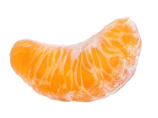 Leinwandbilder - tangerine or mandarin fruit isolated on white background