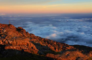 Landscape from Pico volcano (2351m), Pico Island, Azores, Portugal, Europe