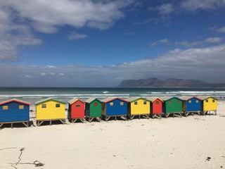 Muizenberg, Kapstadt, Bunte Hütten, Südarfika, Strand
