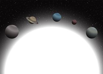 Planets illustration design