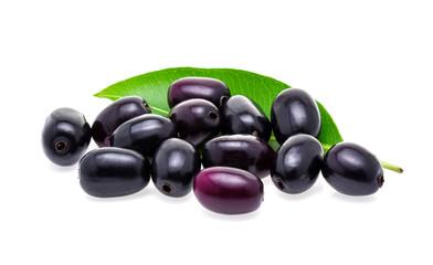 Jambolan plum or Java plum isolated on white background