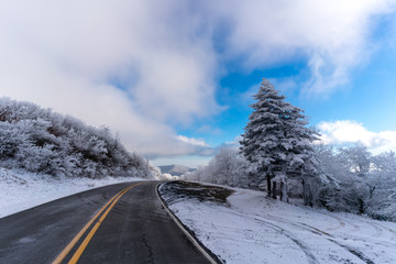 A day trip to the North Carolina mountains on a cold winter day