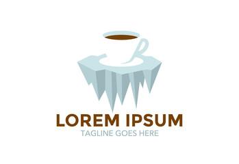 unique conceptual cafe logo. icon. vector illustration. editable