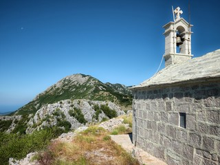 Church St. Elijah on the Orjen Mountain Range, Montenegro