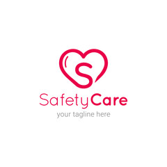 Safety Care Initial S Logo Template