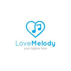 Love Melody Logo Template