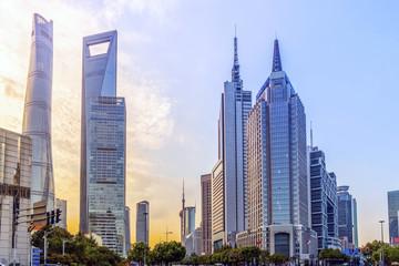 Canvas Prints Kuala Lumpur Urban architectural landscape in Lujiazui, Shanghai