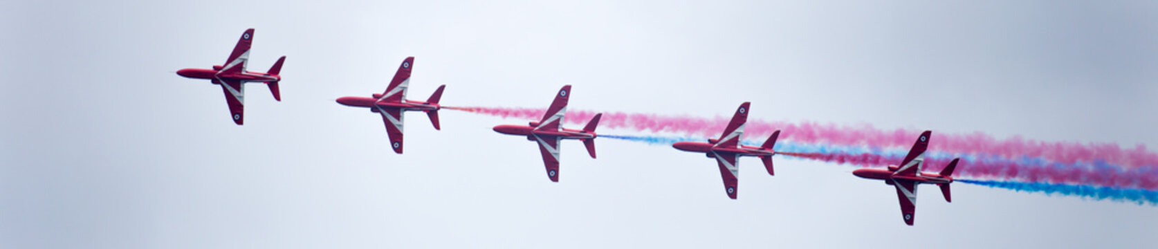 RAF Red Arrows in Line