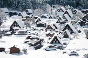 Shirakawa go village in winter, Shirakawa go, Japan