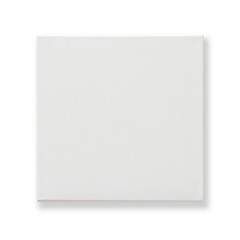 White blank canvas fabric texture square backdrop for oil painting isolated (clipping path)