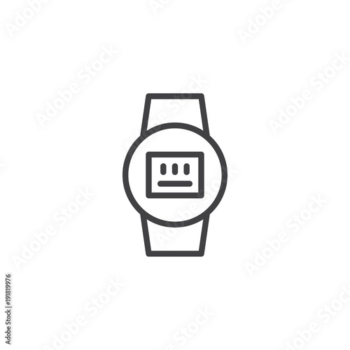 Electric meter line icon, outline vector sign, linear style ...