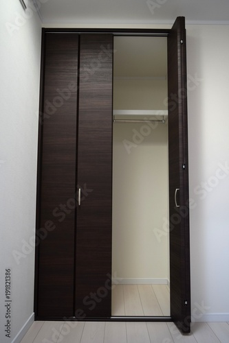Inside The House Storage Of The Room A Folding Door Type Closet
