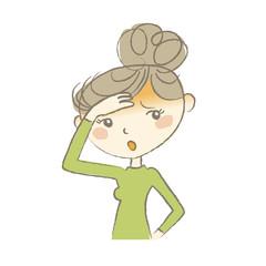 熱でだるそうにする女性 病気の症状