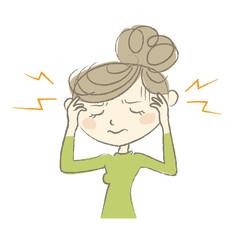 ひどい頭痛で苦しむ女性 病気の症状