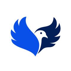 Dove bird vector logo stock vector