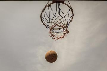 Basketball Flight Hoop Net Outdoors