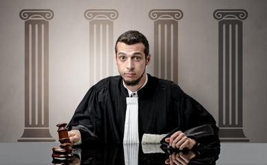 Young judge making decision