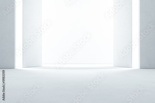 Groovy Abstract Interior Design Of Modern Showroom With Empty Download Free Architecture Designs Scobabritishbridgeorg