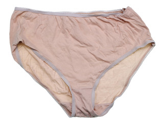Women's rustic cotton washed panties corporeal peach color