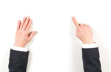 Hands businesswoman and gestures