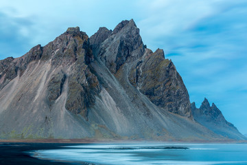 Stokksnes and the Vestrahorn South Iceland beautiful Mountain and Landscape
