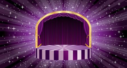 purple burst wide stage