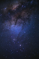 The center of milky way galaxy and space dust in the universe, Night starry sky with stars