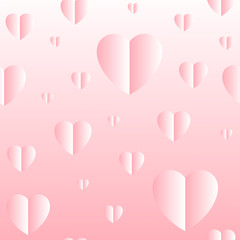 Seamless vector pattern. Cute delicate hearts background for banners, posters, design.