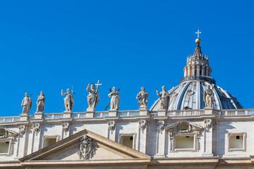 Detalis of Saint Peter's Square, Vatican, Rome, Italy