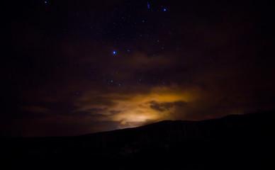 in dark long exposure the star