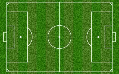 Soccer field. Football european field. Vector illustration